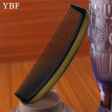 High quality Authentic Natural ox horn Green sandalwood wooden Sessile Combs hair style tool mini pro brush 2016 NEW Brochas
