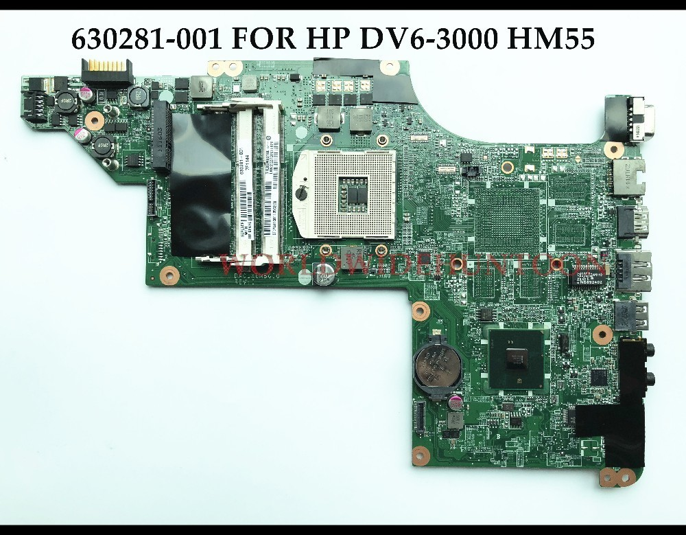 High quality 630281-001 For HP Pavilion DV6-3000 Series Laptop Motherboard DA0LX6MB6I0 HM55 PGA989 DDR3 100% Fully Tested high quality laptop motherboard fit for hp pavilion dv7 4000 dv7 4100 laptop motherboard 615688 001 100