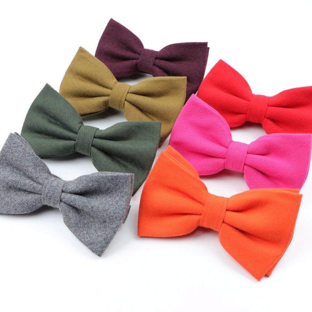 Women Men Winter Solid Fashion Tuxedo Cotton Colorful Butterfly Wedding Party Bowtie Casual Gravata Cravat Corbatas Bow Tie