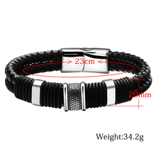 Handmade Genuine Leather Weaved Double Layer Man Bracelets Casual/Sporty Bicycle Motorcycle Delicate Cool Men Jewelry