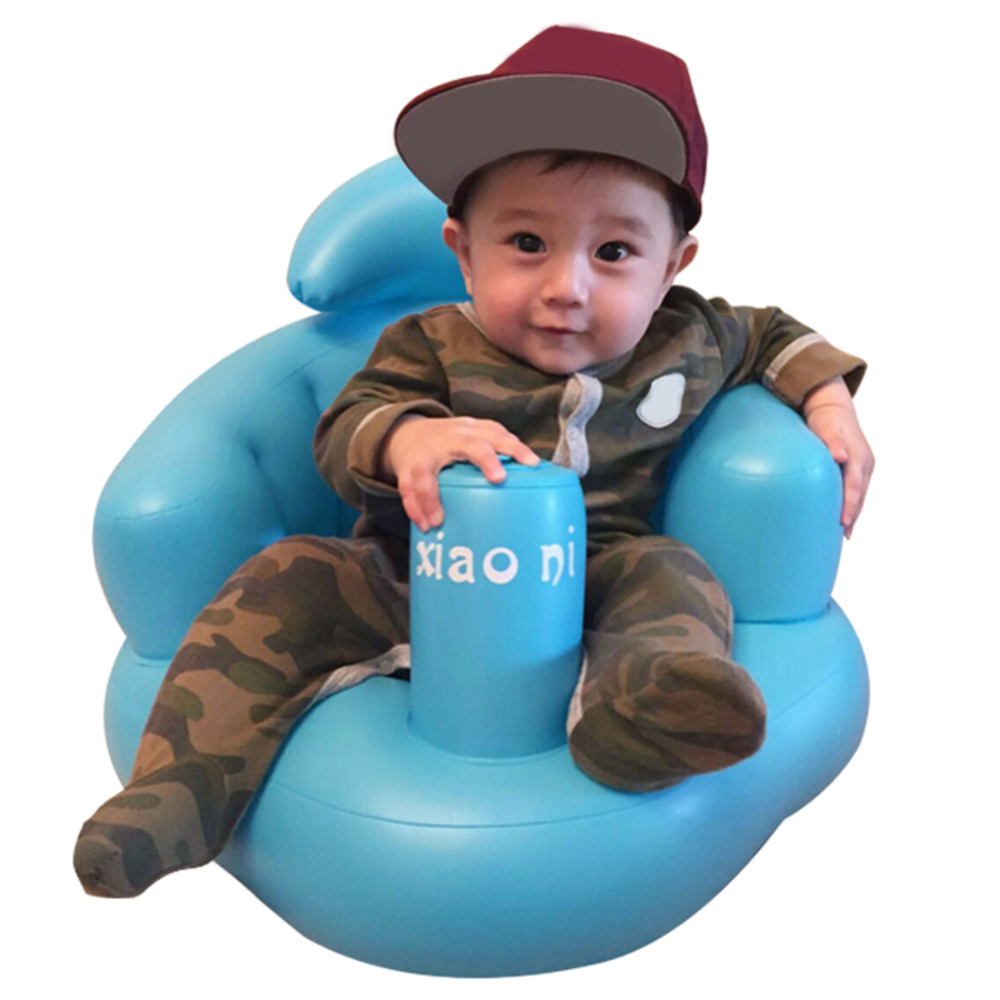 New Arrival Multifunctional Portable Baby Inflatable Sofa Dining Chair Seat Bath Stool Swim Trainer Dropshiping
