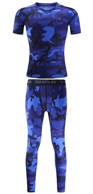 Camouflage Running Sets Men Sport Suit  4