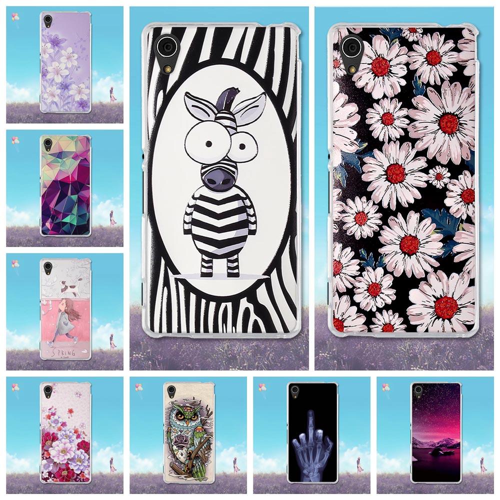 For Sony Xperia M4 Aqua Case Soft TPU Silicone Fundas For Sony M4 Aqua Cover 3D Relief Flower Coque M4 Aqua 5.0'' Phone Cases