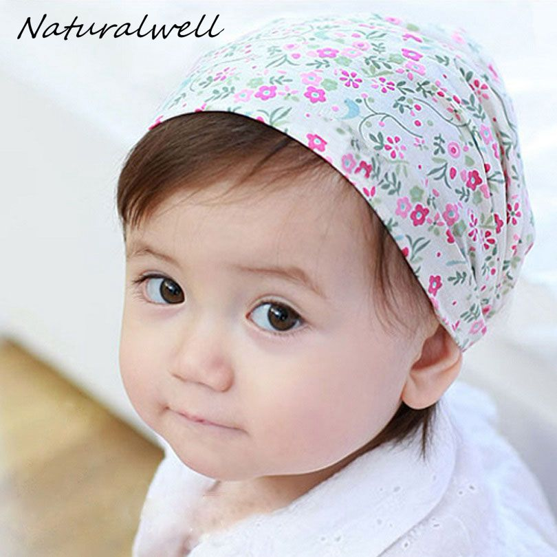 Naturalwell Baby Girls Print Flower Headbands Bandana Hair Accessories Bandage On Head For Child Kids Cute Hairbands 1pc HB441