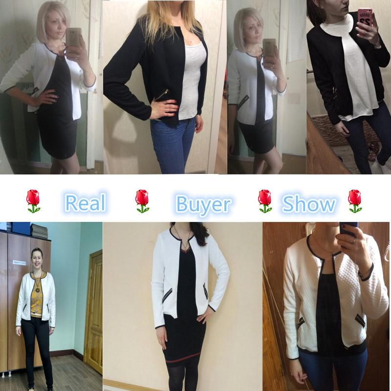 2017 женщин пиджаки черный белый плюс размер весна осень плед женщины тонкий пальто короткие куртки вскользь уменьшают блейзеры костюм кардиганы