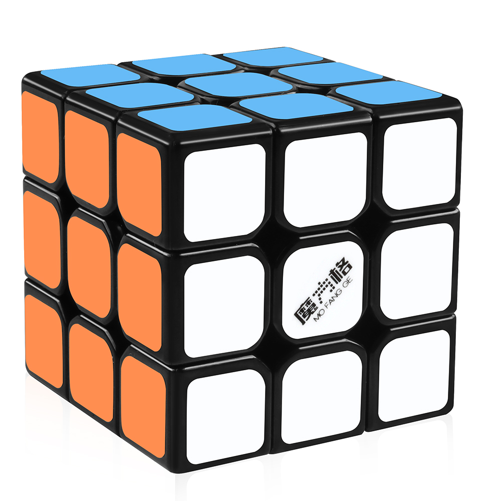 D-FantiX Qiyi Thunderclap 3x3 Speed Cube Smooth Magic Cube Puzzle 57mm (Black)
