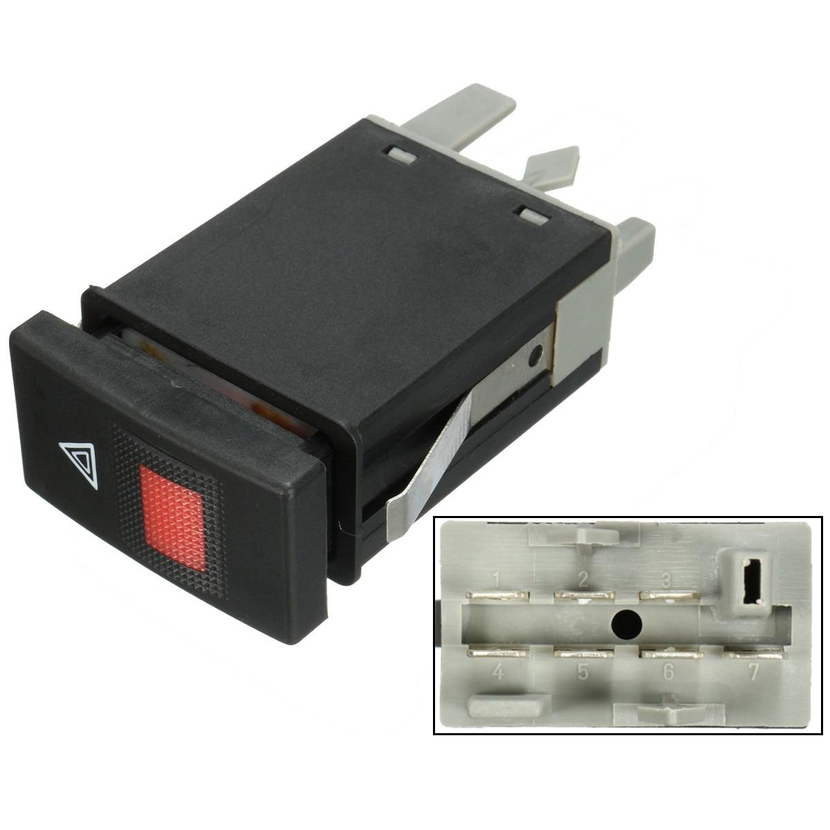 bilder für 7 Pins Notfallwarn Licht Blink Schalter Für Audi A4 B5 8D2 1996-2002 8D0941509E Schwarz Kunststoff
