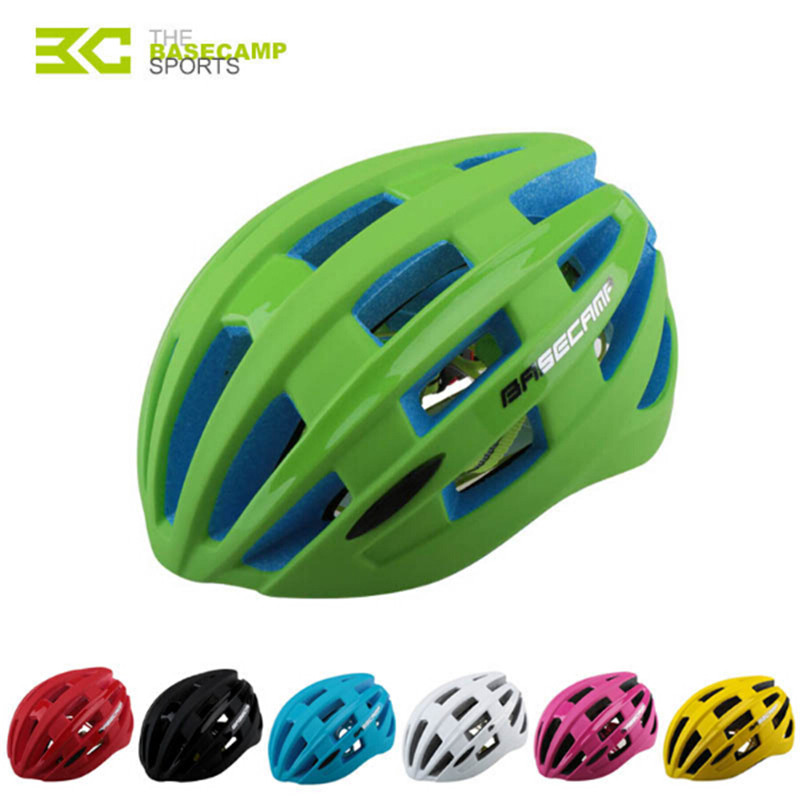 Basecamp Bicycle Cycling Helmet Integrally-molded Cascos Ciclismo Women Men MTB Road Bike Helmet With Tail Light 7 color basecamp mtb road bike bicycle cycling helmet integrally molded 27 air vents helmet