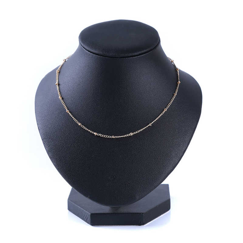 Fashion Jewelry Cute Metal Bead Simple Choker Necklace Statement Chain Boho Pendants Necklaces Bijoux Female Gift