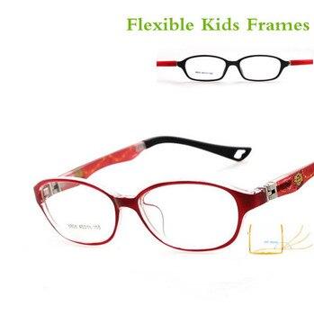 62ac342d0d 180 primavera TR90 gafas ópticas montura para niños gafas flexibles de goma niñas  niños miopía Lense TR niños Marco de gafas 8808