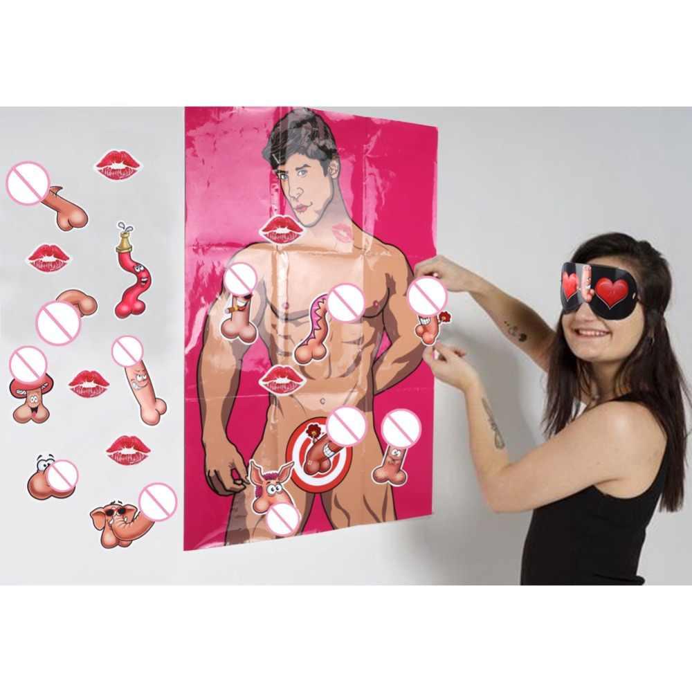 Poster de papel de 80x55cm com etiqueta de 6 pces ourwarm jogos de festa de despedida de solteira