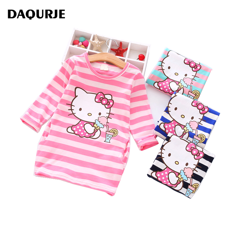 Summer Girls Dress Cartoon Kids Dresses For Baby Girl Clothes 2-7Y Children clothing Vestidos Costume Roupas Infantis Menina 2016 new girls clothes brand baby costume cotton kids dresses for girls striped girl clothing 2 10 year children dress vestidos
