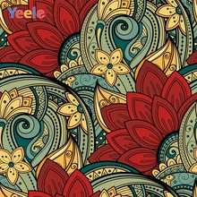 Yeele Colored Floral Pattern Birthday Surprises Communion Party Wall Decoration Backdrops Photography Background For Photo