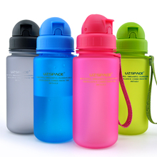 UZSPACE 400ml Straw Water Bottles Tritran Materials Child Student Portable Leak proof High Quality Sports Drink Bottle for Water