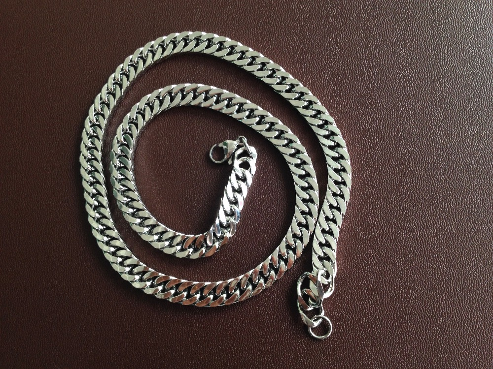 Special offer high quality Simple single to wear flat chain fashion necklace Stainless steel chain necklace jewelry for men