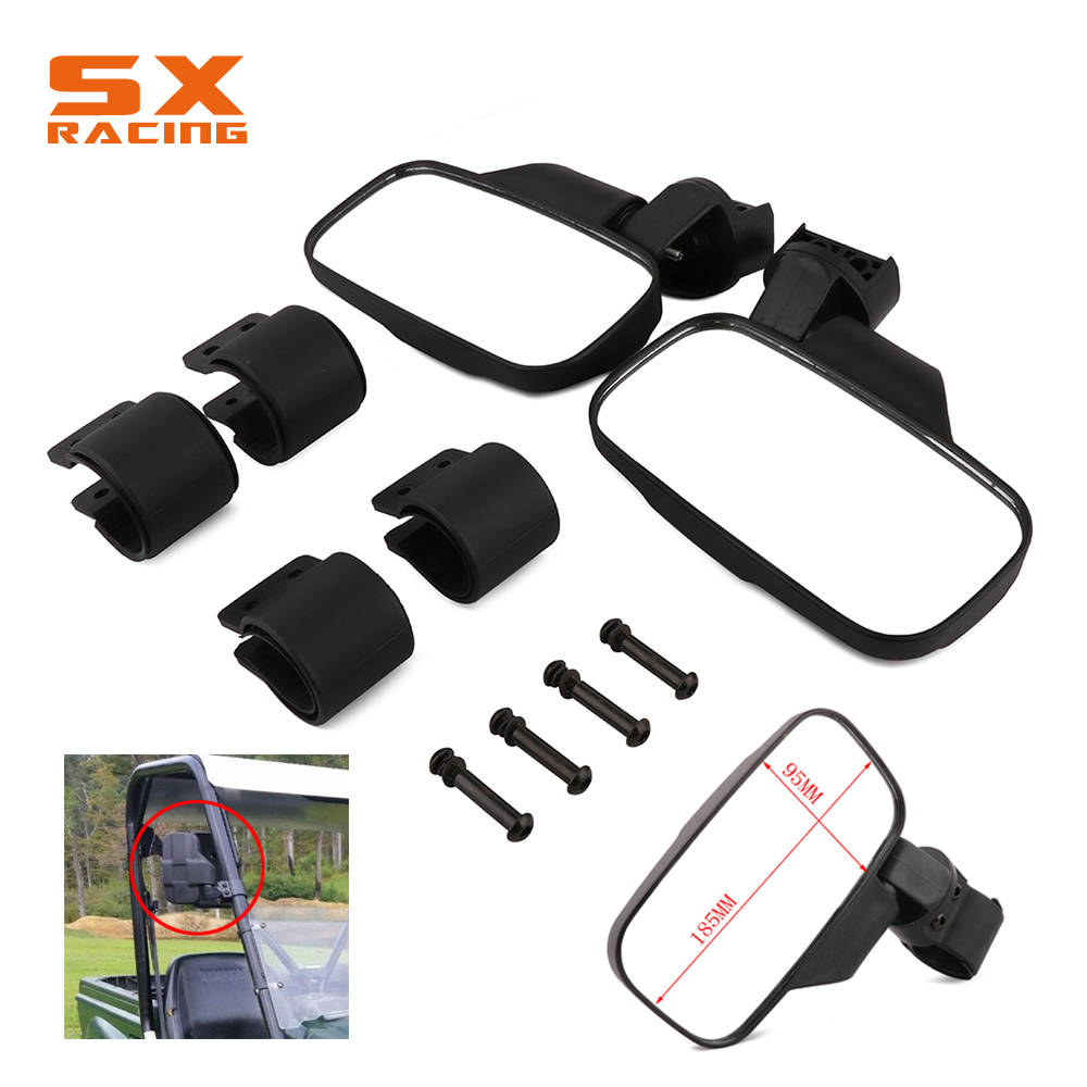Motorcycle 1.75 or 2 Roll Cage UTV Rear View Mirror Rearview Mirror With 45 50MM Clamp For Polaris Rangers RZR Rhino XUV HPX 1 75 round adjustable side mirrors rear view mirror for polaris rzr ranger 900 xp4 1000 500 700 for john deere gator hpx xuv