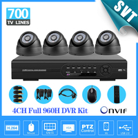 4ch Full 960h D1 Kit CCTV 3g Wifi DVR Recorder 700TVL Day Night Security Camera Surveillance