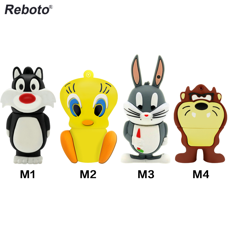 Cartoon Lion Rabbit Duck Cat modelio rašiklis Drive 64GB 32GB 16GB 8GB 4GB USB Flash kortelė Memory Stick Thumb Pendrive dovana