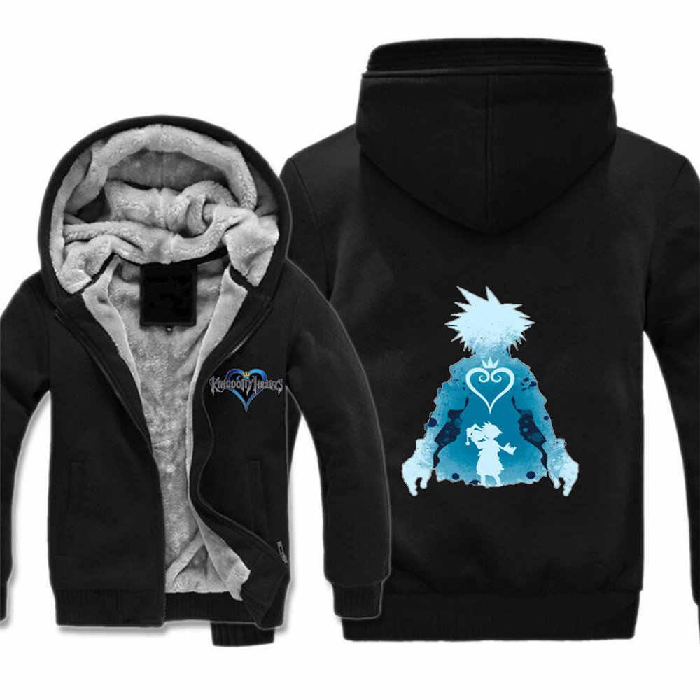 Game Kingdom Hearts 3D Print zipper Sweater Coat Fashion Jacket Cosplay costume