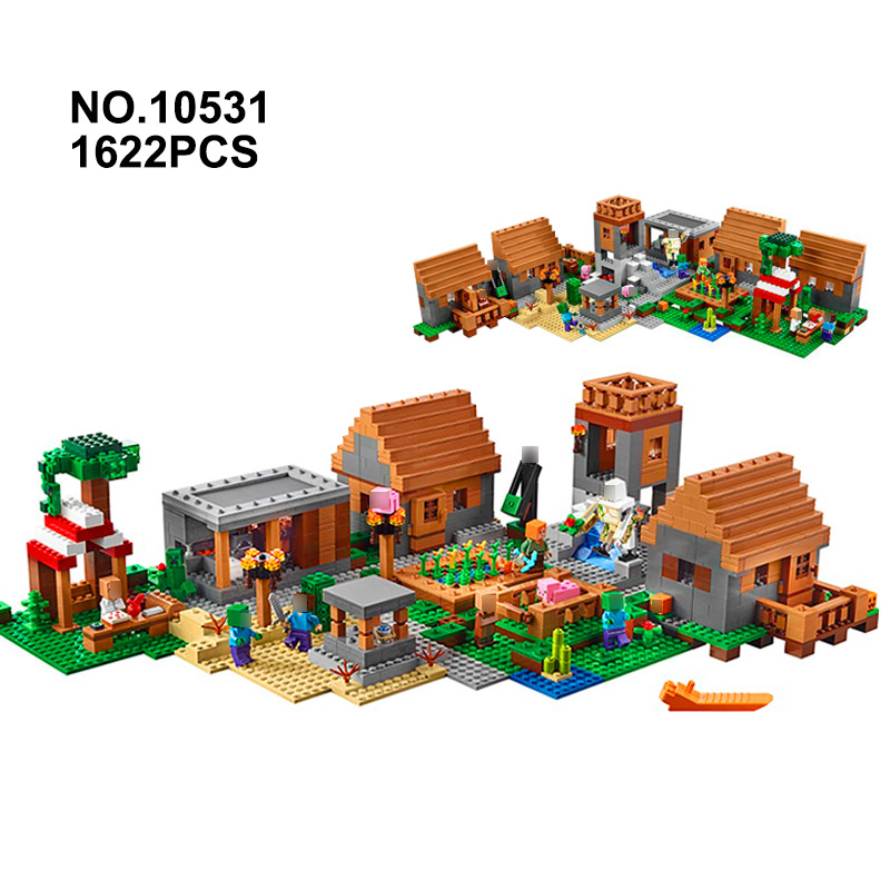 NEW Minecrafted LegoINGlys The Village 1622pcs Building Blocks kits Toys with Action figures Bricks DIY toy for Children gifts kl069 single sale the x files agent vol 1 uma thurman the bride bricks building blocks figures for children gifts toys kl9011