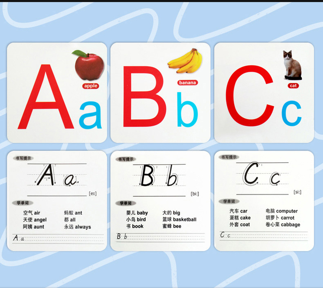 ABC English alphabet card learning English Puzzle early education on