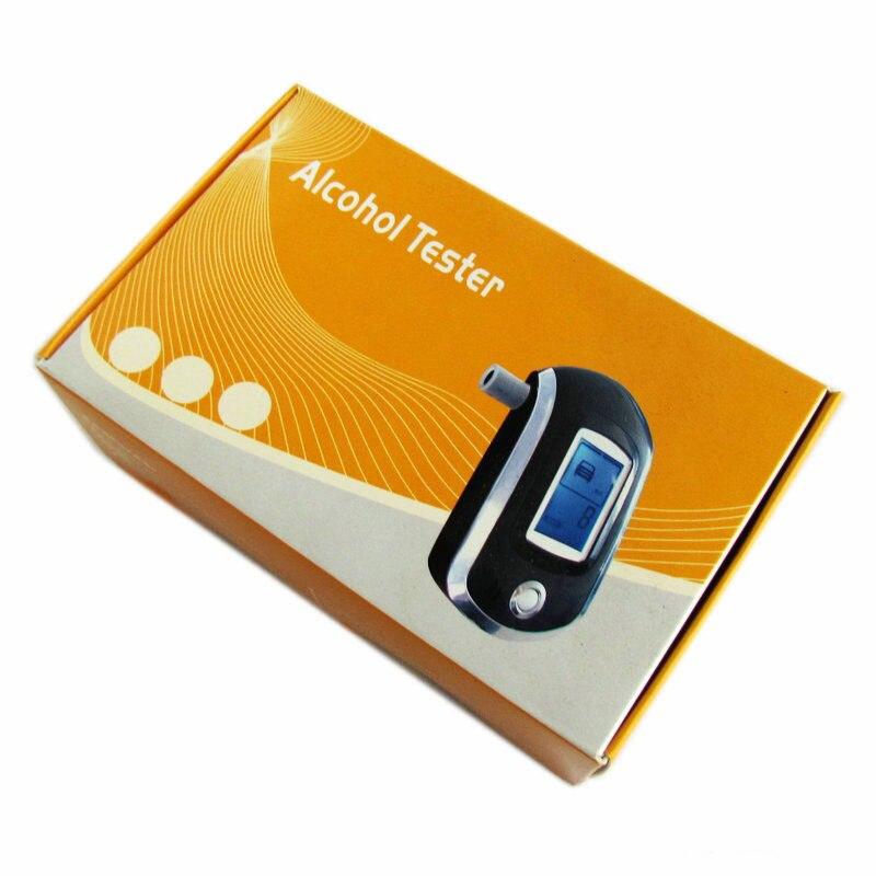 Alcohol tester bafômetro digital respiração sopro analyzer professional AT6000 álcool portátil teste BAC conteúdo
