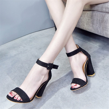 JIANBUDAN  flannel sexy Womens high heel sandals 10cm height elegant comfortable banquet female Pumps Size 35-43