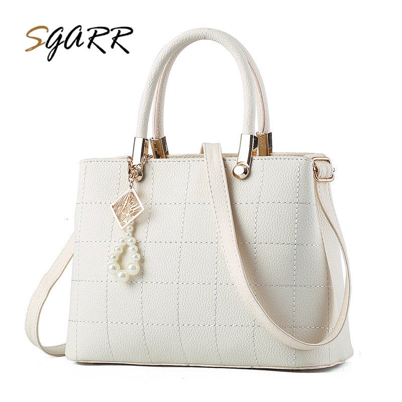 SGARR Luxury Handbags Women PU Leather Shoulder Bag For Female Famous Brands Ladies Plaid Crossbody Bag Fashion Designer Handbag