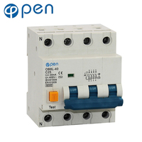 OB8L 40 3P+N 20A/25A/32A Residual Current Circuit Breaker 30mA RCBO for Overload , Residual current, Short Circuit Protection