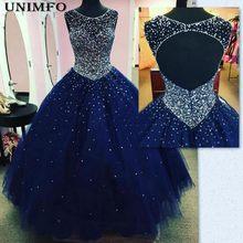 Quinceanera Dresses vestido de Baile Puffy 2019 Escuro Azul Royal Tulle Masquerade Doce 16 Prom Vestido Backless vestidos de 15 años