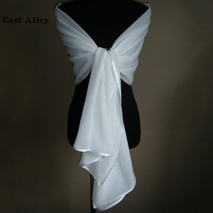 Image 2 - אביזרי חתונה הכלה שיפון דקה גלימת משיכת הכתפיים גלישת צעיף גנב צעיף כלה נשוי