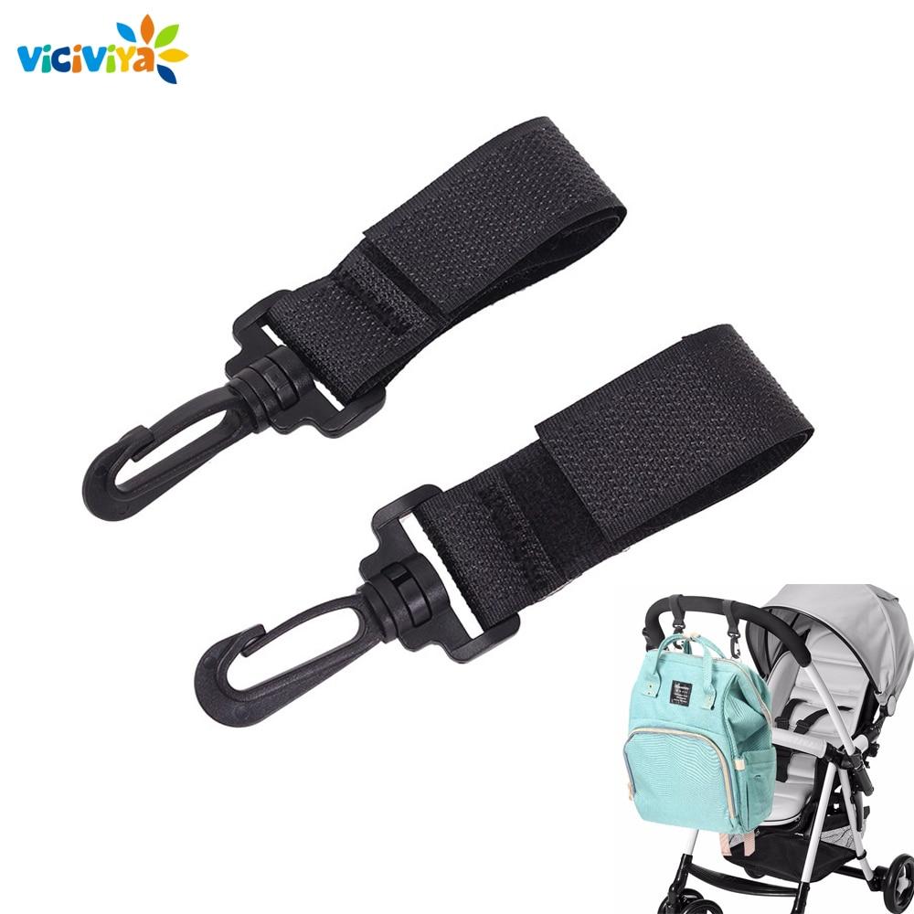 2Pcs Universal Mummy Buggy Clips Pushchair Shopping Bag Hook Carabiner Clip HZ