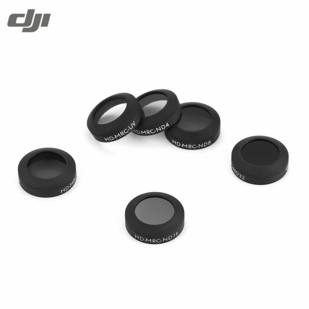 6 pieces Portable Mini HD MRC UV ND4 ND8 ND16 ND32 CPL HD Lens Filters For Air Drone Quadcopter Accessories