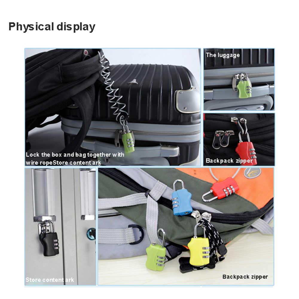 3 Digit Combination Travel Luggage Suitcase Lock Padlock Metal Lock Code Lock Backpack lock Child Orthopedics Bags