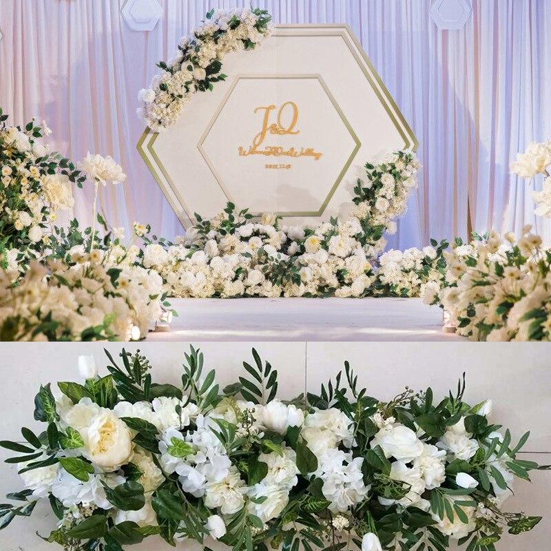 1M accessoires de mariage décoration fleur artificielle rose fleur rangée maison vacances célébration mariage arc décoration fausse fleur-in Fleurs séchées et artificielles from Maison & Animalerie    1