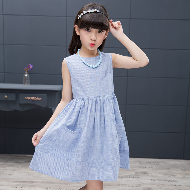 все цены на Baby Girl Dress 2018 Fashion Summer O-neck Princess Wedding Dresses For GirlS Cotton Kids Clothes Sweet Children Clothing 6ds287