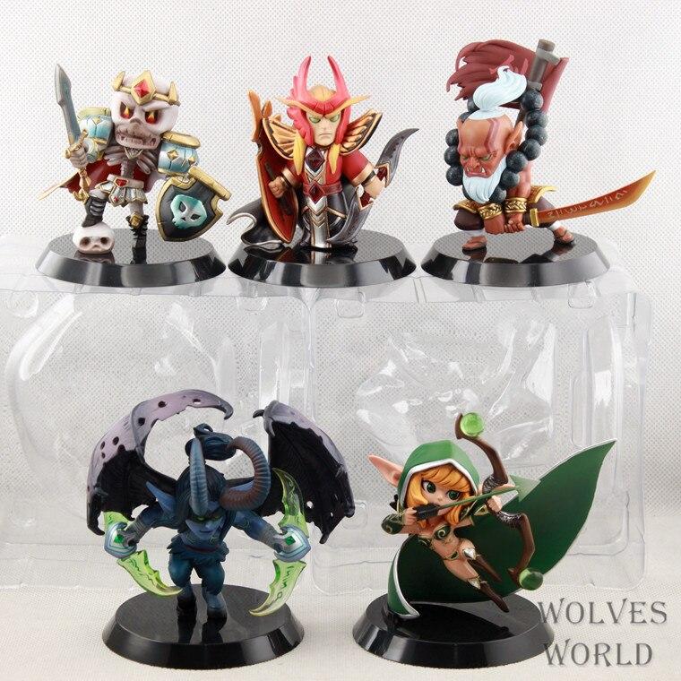 5 pièces/ensemble Dota 2 figurine Action Dota2 modèle JUGG/winivre/Terrorblade/silencieux/squelette roi Funs meilleur cadeau