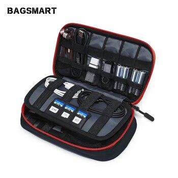 BAGSMART дорожные аксессуары электронные портативные сумки для телефона данные Cuble SD карта USB кабель для наушников телефон зарядное устройство
