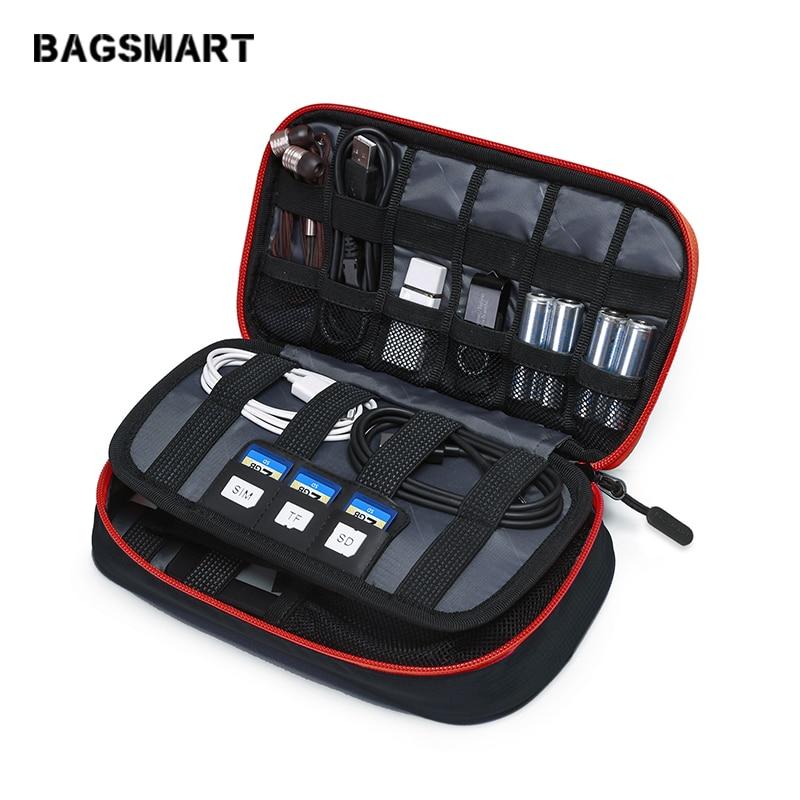 BAGSMART اكسسوارات السفر الحقائب الإلكترونية المحمولة للهاتف بيانات مكعب بطاقة SD كابل USB سماعة شاحن الهاتف