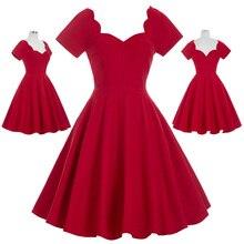 Mulheres Verão vestido vermelho Elegante de Algodão de Manga Curta Casual Vestidos Na Altura Do Joelho Do Querido Partido Vestidos Big Balanço Vestido 2018