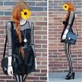 Women Lady Girl Punk Rock Stylish Vertical Stripe Pantyhose Stockings Tights Useful