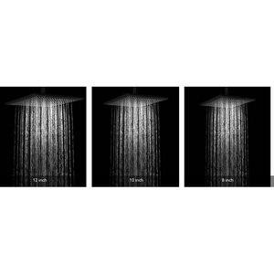 Image 5 - BAKALA Shower Faucets Black Wall Mounted Rainfall Bathroom Concealed Shower Mixer Taps Bath Rain Shower Set Bathtub Faucet BR BB