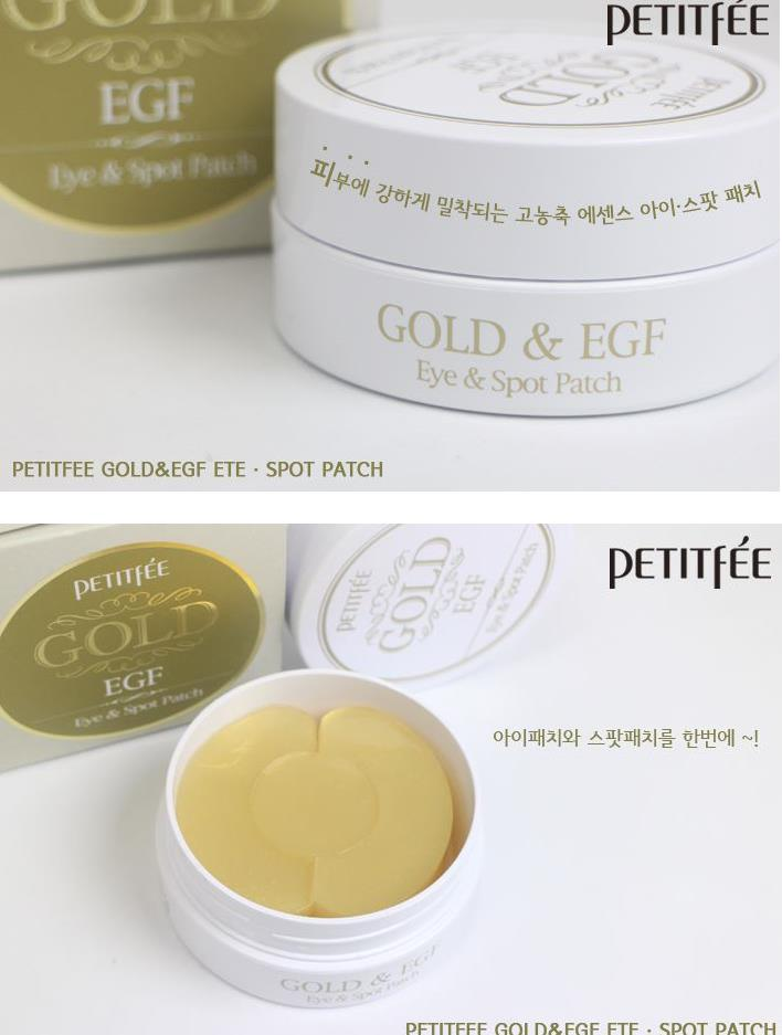 PETITFEE Gold & EGF Eye Spot Patch 90p (Eye Mask 60p Spot Patch 30p )Eye Care Spot Remover Sleep Mask Eliminates Dark Circles 9