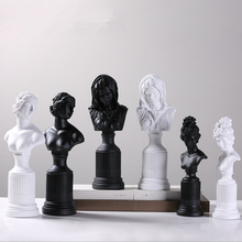black white Modern resin girls figurine home decor crafts room decoration objects vintage ornament lady goddess statue