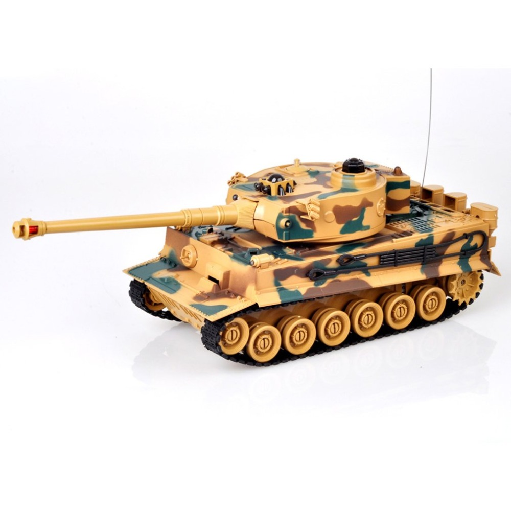 все цены на 1:28 RC Tank 27Mhz Infrared RC Germany Tiger/T90/M1A2 Remote Control Tank Remote Toy with Musical Flashing for Child Kids Boy онлайн