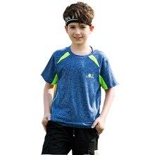 Однотонная спортивная рубашка для маленьких мальчиков; одежда из хлопка; детская дышащая быстросохнущая Спортивная футболка для бега; летняя одежда для мальчиков; подарок