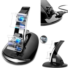 USB LED Light Dual Controller Charging Dock Station Charger For Xbox One Controllers Gamepad Cradle Holder Game Accessories dual charging dock station w usb charging cable for xbox one black