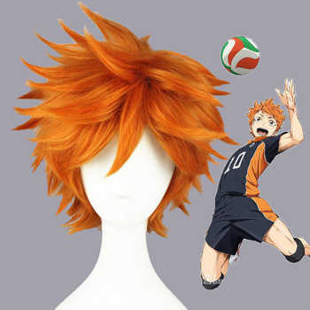 Haikyuu!! Hinata Syouyou Short Orange Fluffy Layered Cosplay Wigs Heat Resistant Synthetic Hair Anime Wig + Wig Cap - DISCOUNT ITEM  10% OFF All Category