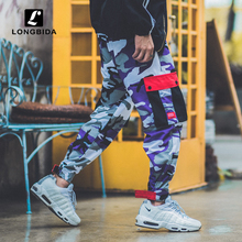 New Fashion Camo Cargo Pants Men High Street Hip Hop Loose Casual Camouflage Trousers Streetwear