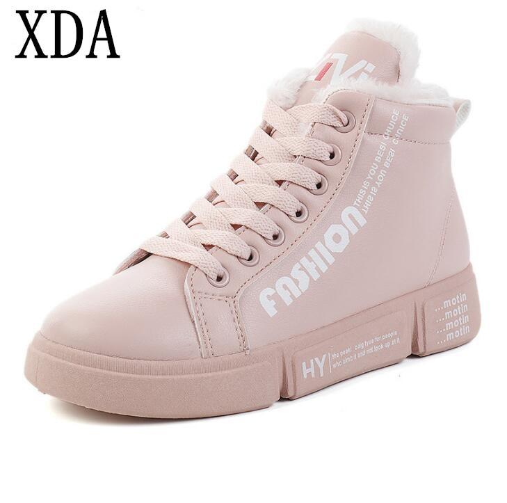 805fae609ea1ec Xda Mode Bottes rose 2019 blanc Respirant Cheville Femmes Neige Appartements  Chaussures F768 Noir En Graffiti Peluche Casual Chaud D'hiver rInrU0qTw